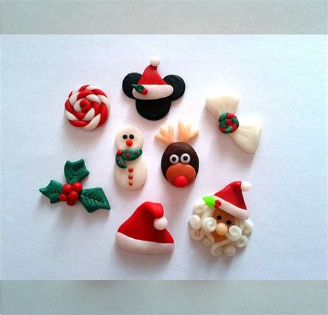 polymer clay christmas set centers for bows