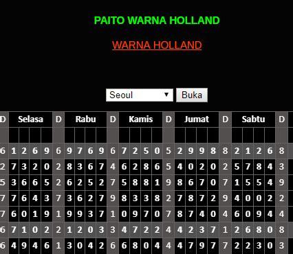paito warna holland data pengeluaran togel holland