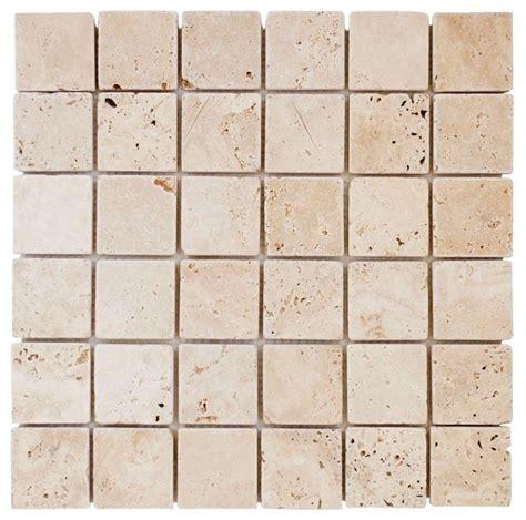 mosaic tile jeffrey court flooring light travertine 12 in