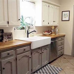 25 best ideas about two tone cabinets on pinterest two With kitchen colors with white cabinets with sticker love you