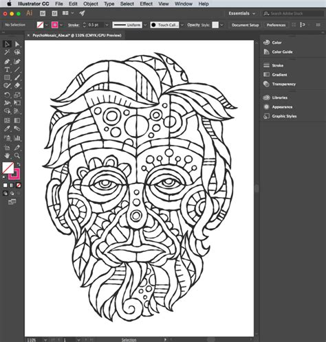 wow von glitschkas process  inking  sketch  adobe