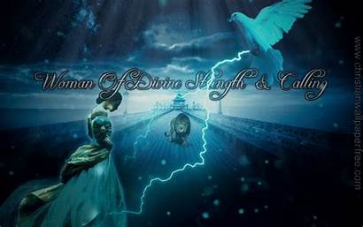 Strength Divine Woman Calling Christian