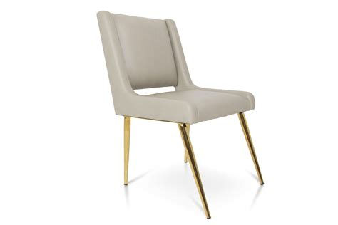 mid century style dining chair with brass legs modshop