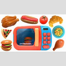Just Like Home Microwave Oven Toy Kitchen Set Cooking