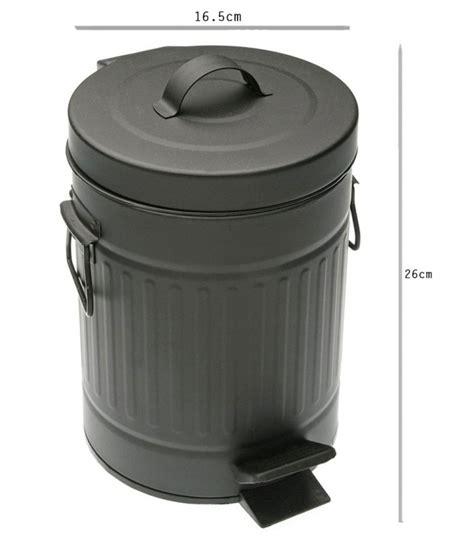 poubelle de salle de bain 224 p 233 dale noir mat style r 233 tro wadiga