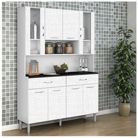 Kit mueble cocina 121x174x36 cm Blanco Muebles de cocina