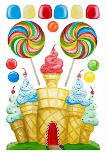 Candyland Candy Christmas Clipart Decorations Birthday Land