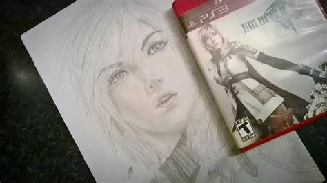 What does ff stand for in drawing? FFXIII Lightning drawing : FinalFantasy