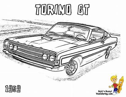 Muscle Pages Coloring Printable Classic Torino Truck