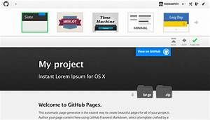 Github pages templates t3n for Github pages templates