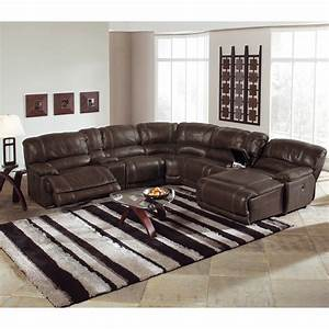 st malo 6 piece power reclining sectional with right With white sectional sofa value city furniture