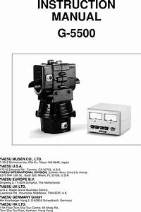 U540d U79f0 U672a U8a2d U5b9a 3 Yaesu Rotator G 5500 User Manual