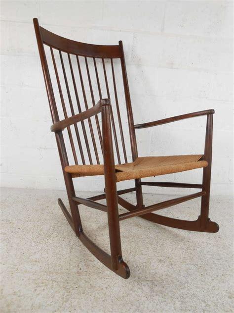 hans wegner j 16 style mid century rocking chair for sale