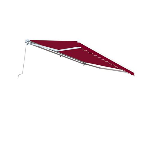aleko  ft manual patio retractable awning   projection  burgundy awxburg hd