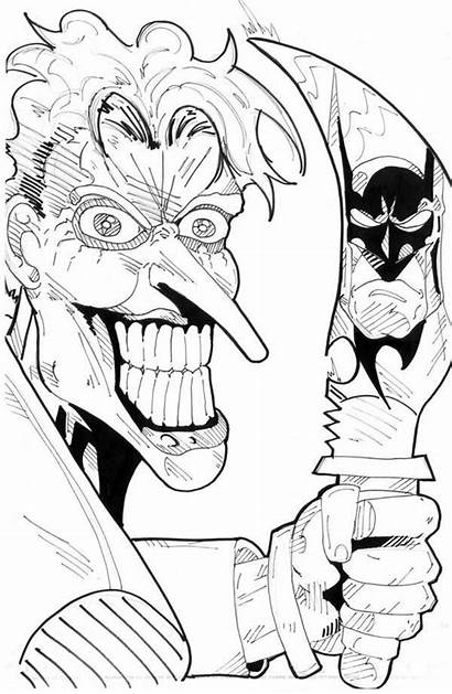 Coloring Pages Scary Joker Clown Knife Adults