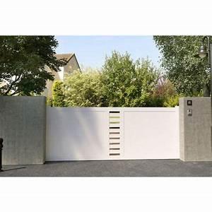 Portail Brico Depot 4m : portail en pvc coulissant cassis 350cm castorama ~ Farleysfitness.com Idées de Décoration