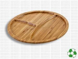 Plateau Rond En Bois : plateau rond en bois publicitaire plateau rond bambou ~ Teatrodelosmanantiales.com Idées de Décoration