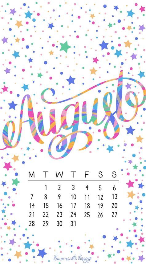 august  printable calendar tech pretties dawn