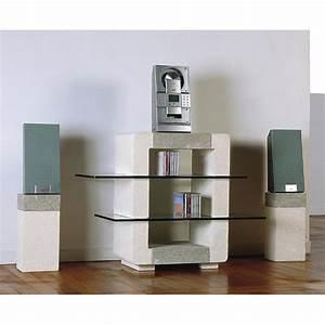 Hifi Möbel Design : tv hifi m bel aus stein und kristall in modernem design xeni ~ Michelbontemps.com Haus und Dekorationen