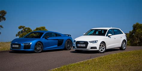audi r8 v10 plus v audi a3 1 0 tfsi comparison photos 1