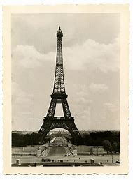 Vintage Photography Eiffel Tower