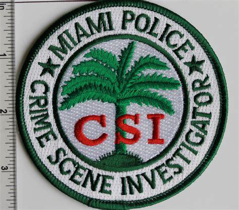 miami police crime scene investigator csi patch policebadgeeu