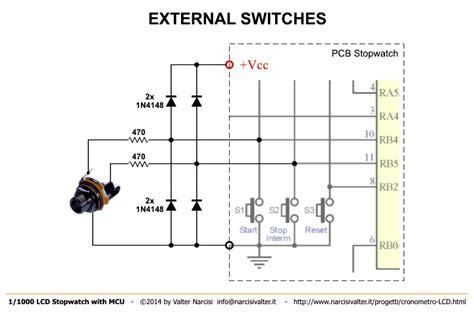 1 1000 second microcontroller stopwatch cronometro millesimale lcd