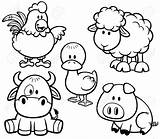Coloring Farm Pages Printable Animals Animal Sheet sketch template
