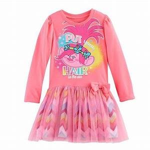Toddler Girl Dreamworks Trolls Poppy  U0026quot Put Your Hair In The