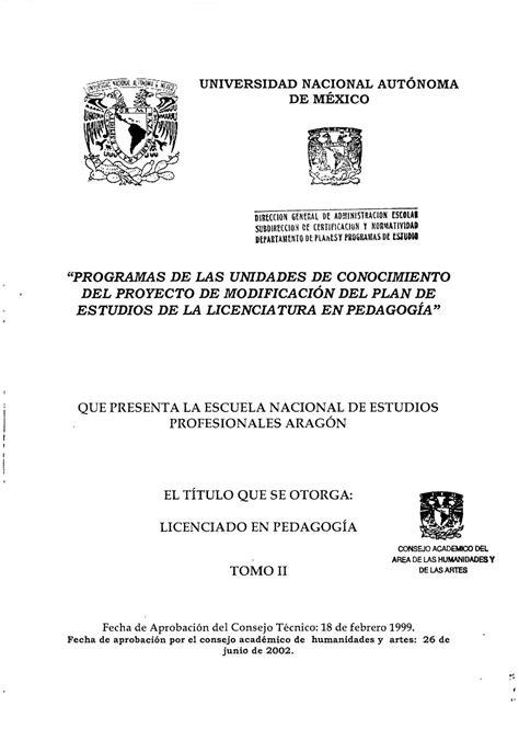 plan de estudios  vigente  licenciatura en