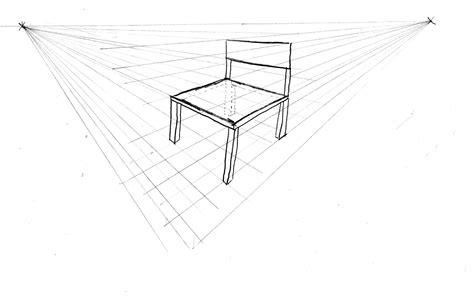 dessin de chaise en perspective comment dessiner en perspective