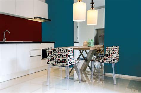 cuisine bleu canard peinture bleu canard murale décohom