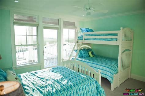mint green bedroom ideas صور ديكورات غرف نوم ثلاث سراير للبنات اثاث راقي وذوق 2015 16205 | 115 jpg.24162