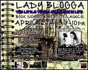 Funky book signing and website launch announcement.   Book ...