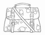 Handbag Coloring Flowered Purse Pages Coloringcrew Template sketch template