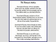 Guyana National Pledge Guyana National Anthem MY
