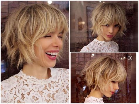 Best 25+ Layered Bob With Bangs Ideas On Pinterest