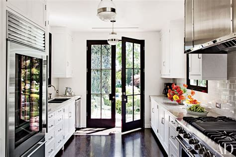 beautiful black  white kitchens   ad archives