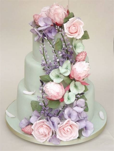 inspiring sugar flower wedding cakes