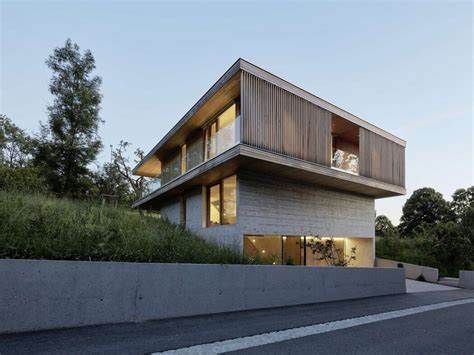 Moderne Häuser Holz Beton by De 70 Fotos De Fachadas De Casas Minimalistas