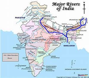 Map: Ganges & Brahmaputra Sacred Rivers of India | Maps ...