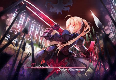 saber alter fatestay night zerochan anime image board