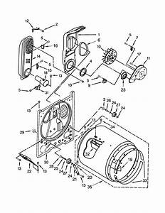 Whirlpool Model Wgd4815ew1 Residential Dryer Genuine Parts