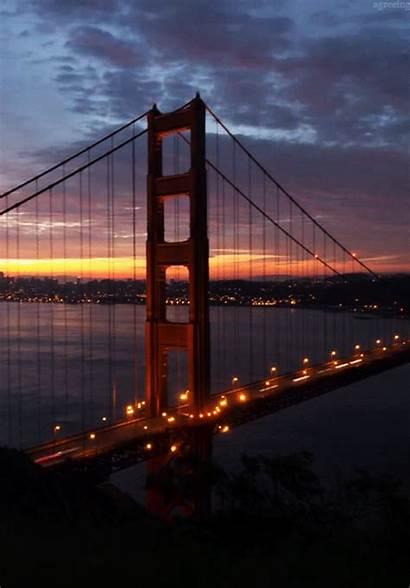 Bridge Landscape Gifs Gate Animated Golden Vertical