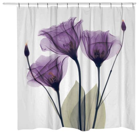 Purple Flower Shower Curtain by Purple Flower Shower Curtain Contemporary Shower