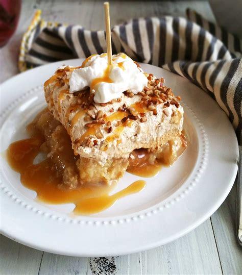 Caramel Apple Poke Cake 3 Yummy Tummies