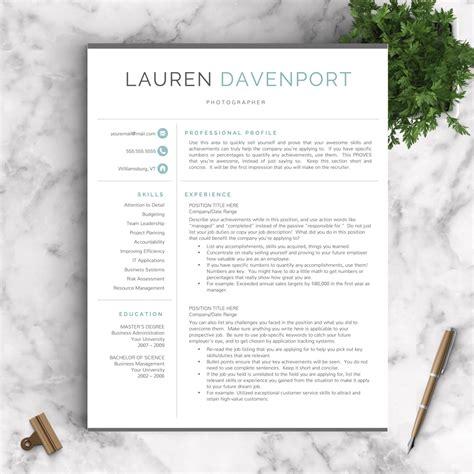 modern resume template professional resume by landeddesignstudio