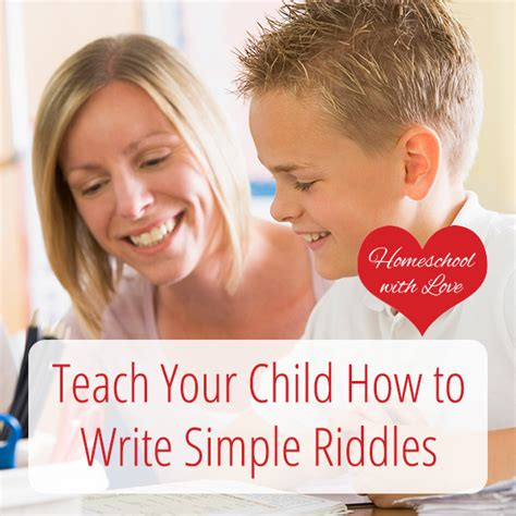 teach your child how to write simple riddles 562 | Teach Your Child How to Write Simple Riddles