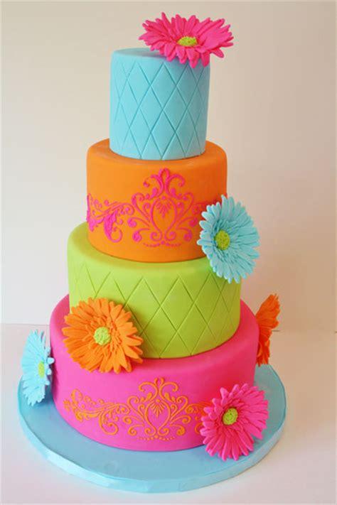 Birthday Cakes New Jersey  Bright Colors Tween Custom Cakes