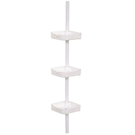 zenna home tub  shower tension corner pole caddy